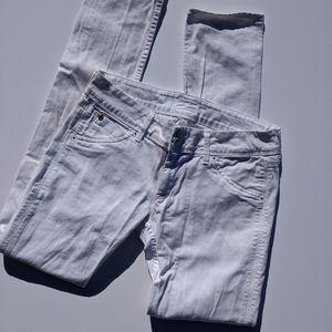 EUC White Hudson Skinny Jeans